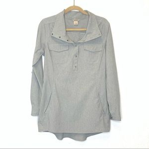Duluth Trading Pullover Lightweight Jacket Gray S